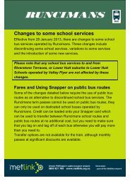 Changes to some school services