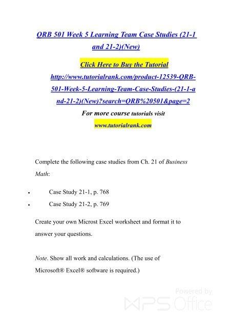 case study 21-1 p768 case study 21-2 p769