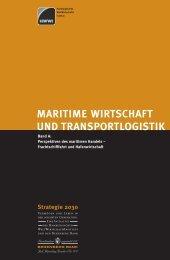 Strategie 2030 - Maritime Wirtschaft und Transportlogistik - HWWI