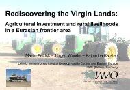 Rediscovering the Virgin Lands: - IAMO
