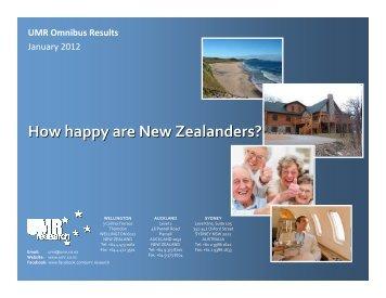 How happy are New Zealanders?