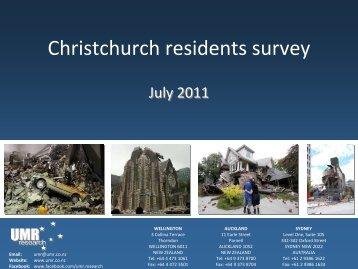 Christchurch residents survey
