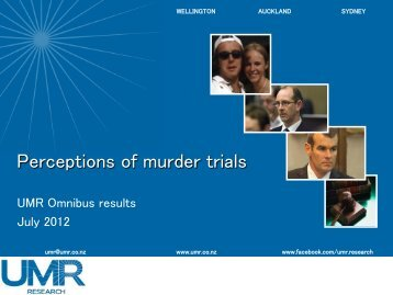 Perceptions of murder trials