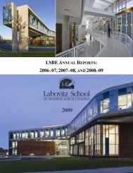 lsbe annual reports - University of Minnesota