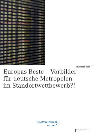 Europas Beste – Vorbilder für deutsche Metropolen im - HWWI