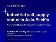 Industrial salt supply status in Asia-Pacific