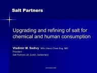 Upgrading and refining of salt for chemical and human consumption