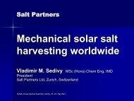 Mechanical solar salt harvesting worldwide