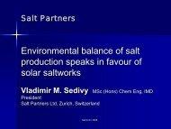 production speaks in favour of solar saltworks
