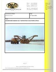 21 April 2008 Topic MODERN MECHANIZED SALT HARVESTING IN SOUTHERN AFRICA