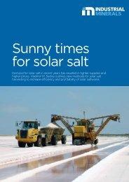 Sunny times for solar salt