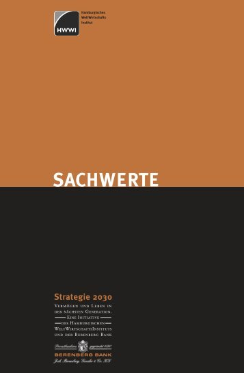 SACHWERTE Strategie 2030 - HWWI