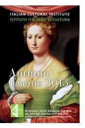 Autumn Events 2013