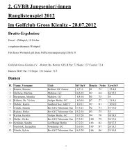 2. GVBB Jungsenior/-innen Ranglistenspiel 2012 im Golfclub Gross ...