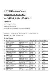 1. GVBB Senioren/innen - - Rangliste am 27.04.2012 - - im Golfclub ...