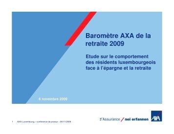 Baromètre AXA de la retraite 2009