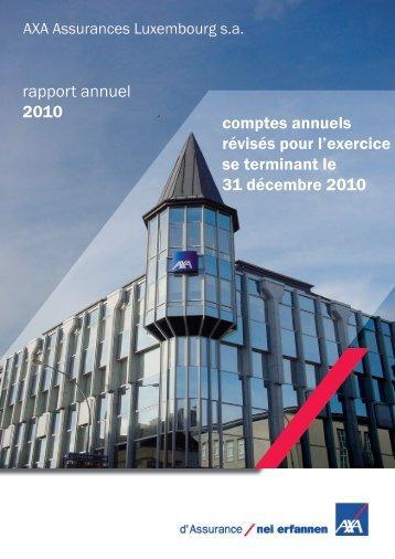 rapport annuel 2010 comptes annuels révisés pour l'exercice se ...