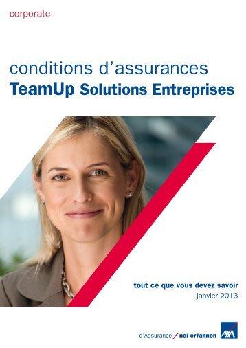conditions d'assurances TeamUp