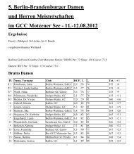 12.08.2012 Ergebnisse