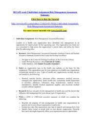 HCS 451 week 2 Individual Assignment Risk Management Assessment Summary- hcs451dotcom