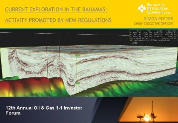 CURRENT EXPLORATION IN THE BAHAMAS ACTIVITY PROMOTED BY NEW REGULATIONS