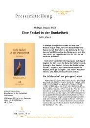 Eine Fackel in der Dunkelheit - Sufi-Lehren (Pressemitteilung)