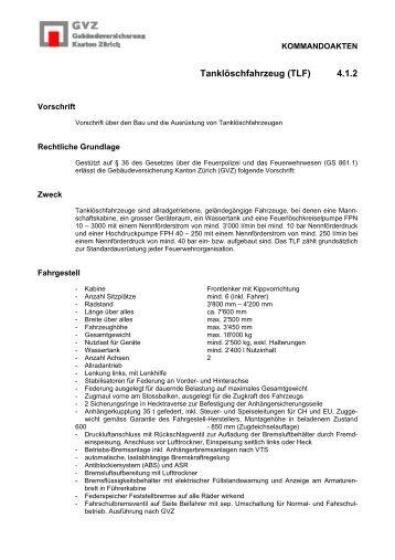 Tanklöschfahrzeug (TLF) 4.1.2 - GVZ