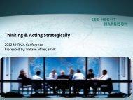 Thinking & Acting Strategically