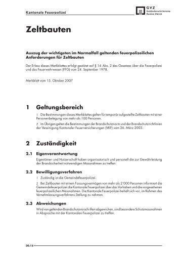 Merkblatt: Zeltbauten - GVZ