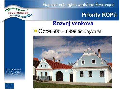 Regionální operační programy v roce 2008 Petr Vráblík