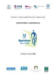 Pravidla soutěže Sprinter roku 2008 - Svaz měst a obcí České ...