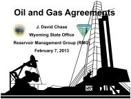 Oil and Gas Agreements