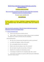 HIS 301 Week 4 Individual Assignment Reflections on the First Amendment Paper 1- his301dotcom
