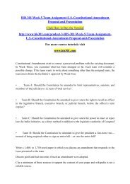 HIS 301 Week 5 Team Assignment U.S. Constitutional Amendment Proposal and Presentation- his301dotcom