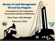 Bureau of Land Management Oil and Gas Program