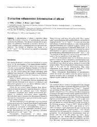Extraction voltammetric determination of silicon