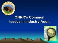 ONRR's Common Issues In Industry Audit