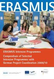 ERASMUS Intensive Programmes Compendium of Selected - DAAD