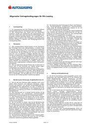 Allgemeine Vertragsbedingungen für Kfz-Leasing - GemNova