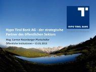 Hypo Tirol Bank AG - der strategische Partner des öffentlichen Sektors