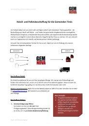 Heizöl- und Pelletsbeschaffung für die Gemeinden Tirols