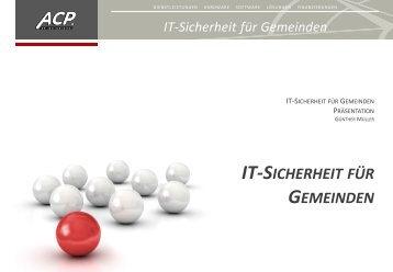 IT-SICHERHEIT GEMEINDEN
