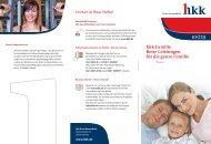 hkk-Familie, Angebote für Bremen (hkk 04021 (01/11))