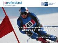 Workshop 3 - Onlinemarketing/Suchmaschinenoptimierung (Herr Marc