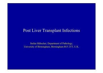 Post Liver Transplant Infections