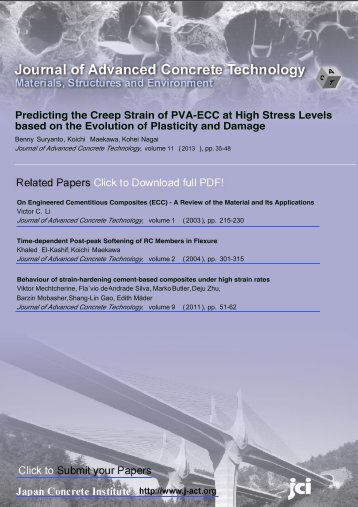 Predicting the Creep Strain of PVA-ECC at High Stress Levels ...