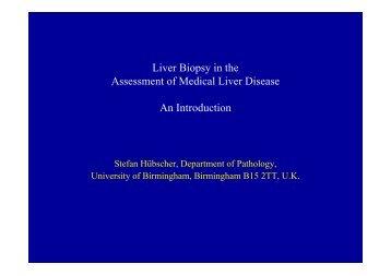 Prof S Hubscher 9.30 - Virtual Pathology at the University of Leeds