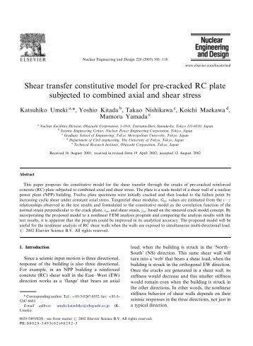 subjected to combined axial and shear stress