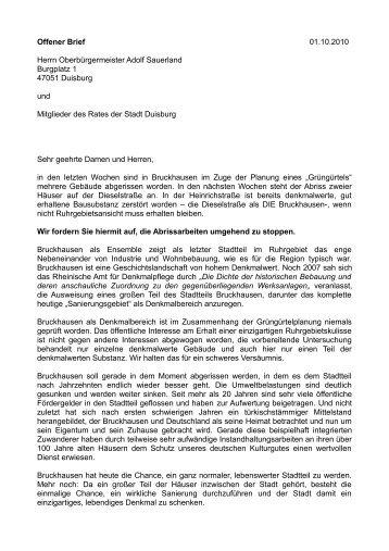 Moratorium für Bruckhausen