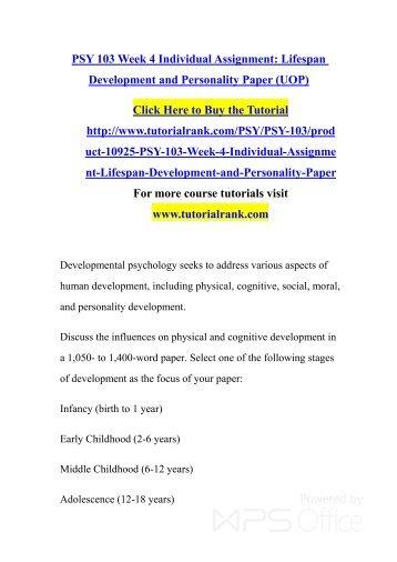 PSY 405 Course Extraordinary Education-snaptutorial.com